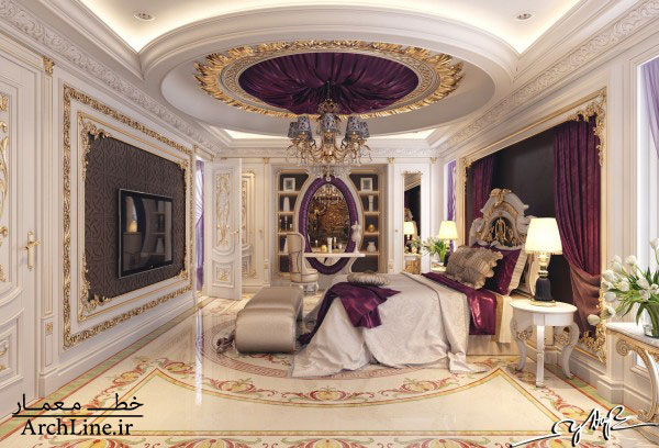 purple-satin-room-decor-600x408