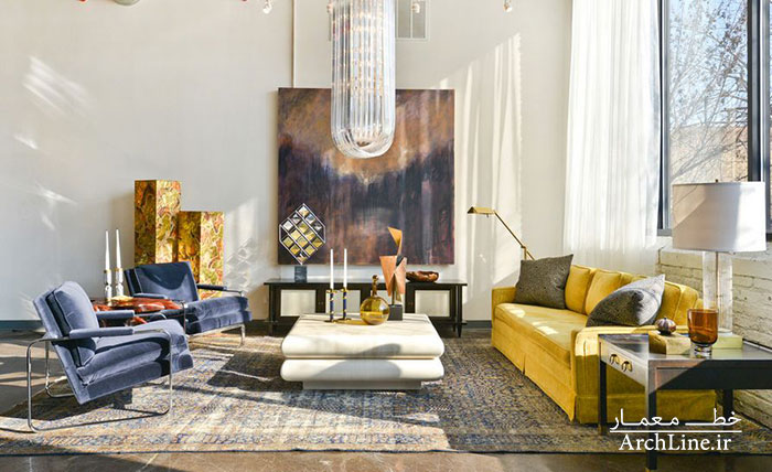 washed-rug-and-yellow-sofa