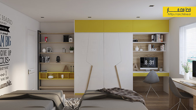 bright-yellow-and-grey-bedroom-theme-for-kids