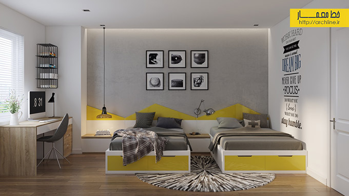 grey-and-yellow-kids-bedroom