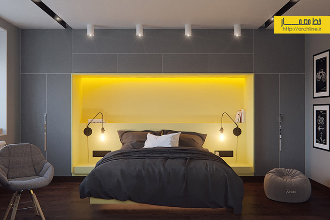 modern-yellow-and-grey-bedroom-style