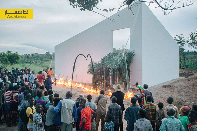 white cube' gallery in DR congo by OMA