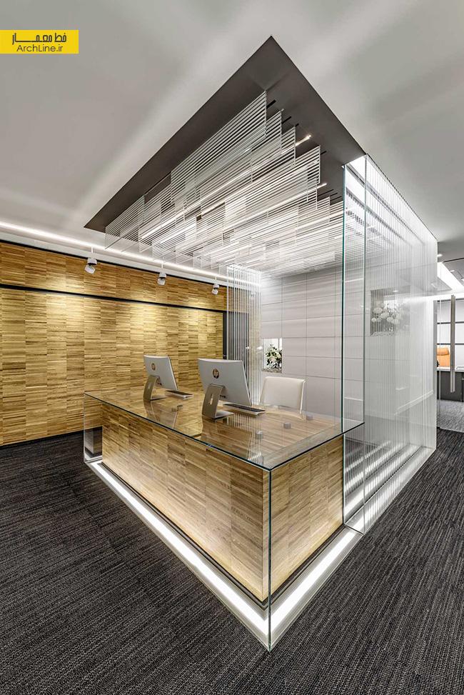 طراحی داخلی دفتر اداری شرکت شیشه ونوس