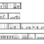 مقطع طراحی داخلی دفتر اداری شرکت شیشه ونوس