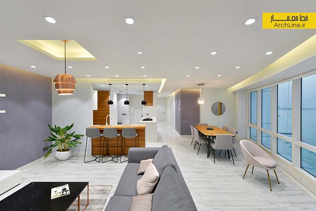 طراحی داخلی آپارتمان یک خوابه