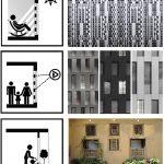 دیاگرام معماری آپارتمان مسکونی بوستان