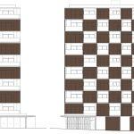مقطع معماری ساختمان مسکونی