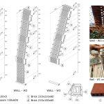 دیاگرام معماری خانه ویلایی با نمای آجری