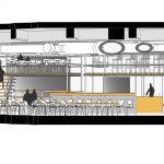 طراحی داخلی کافه داربست