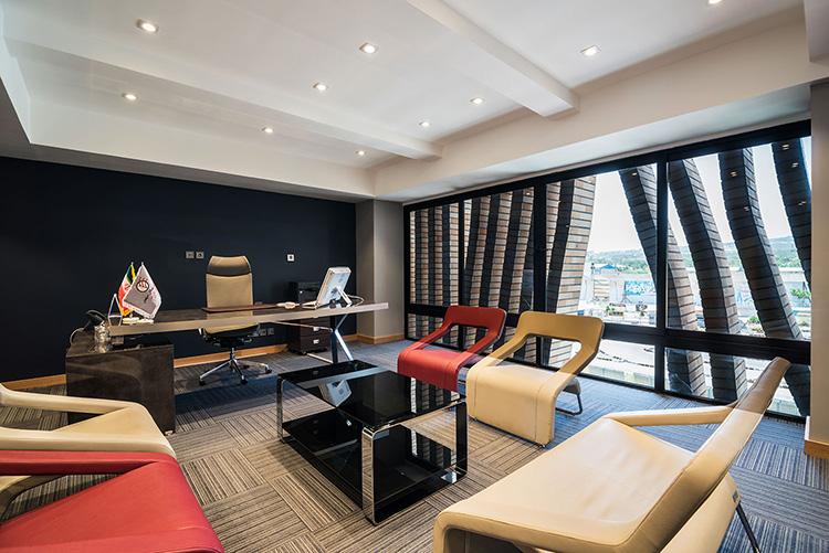 معماری طراحی داخلی ساختمان اداری بهتاش