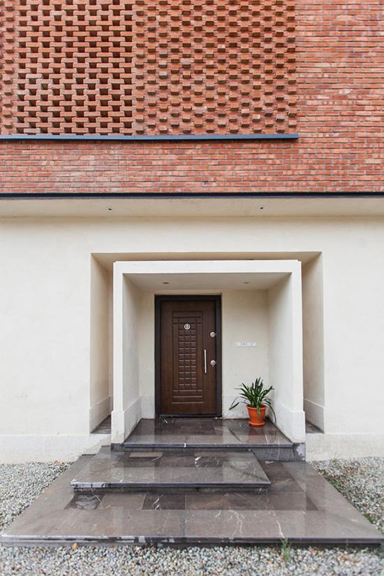 طرح نمای ساختمان سیمان و آجر