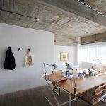 دیوار و سقف بتن در دفتر کار