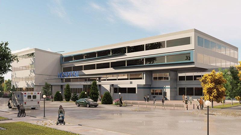 پلان دوبعدی و سه بعدی بیمارستان
