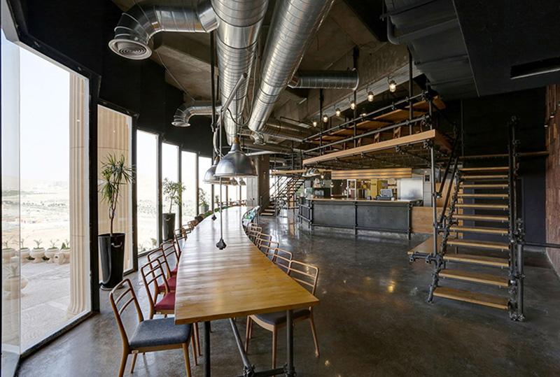 چیدمان داخلی کافه رستوران