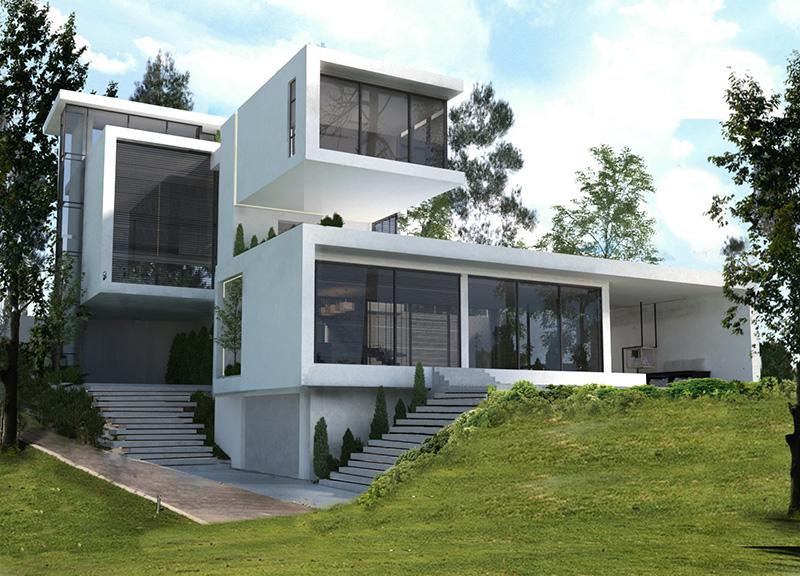 طراحی معماری ویلا بی نهایت