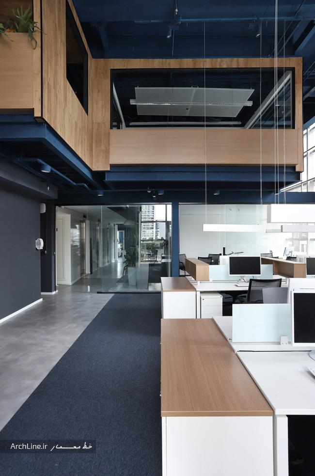 دیزاین داخلی دفاتر اداری بزرگ