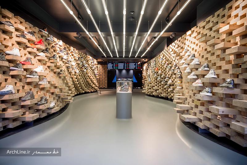 دکوراسیون مغازه کفش ورزشی