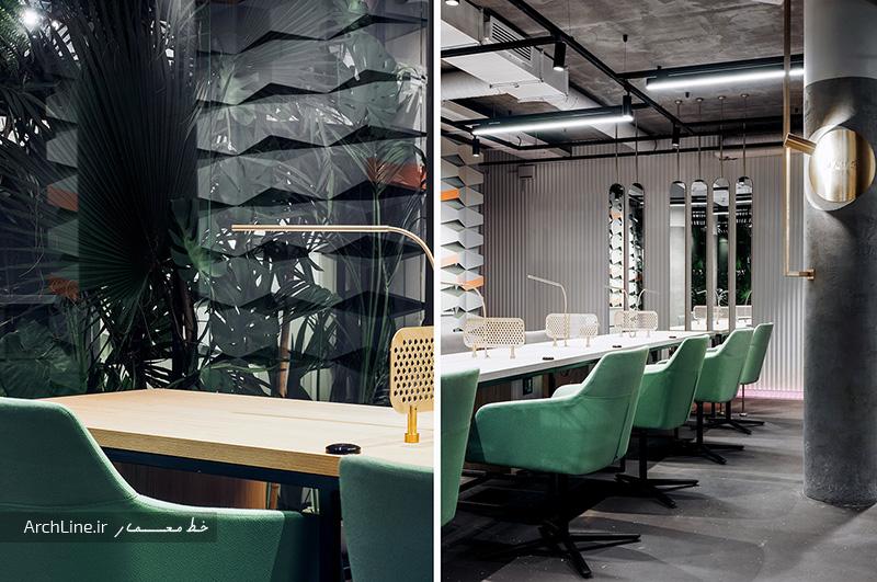 طرح دکوراسیون داخلی آرایشگاه زنانه