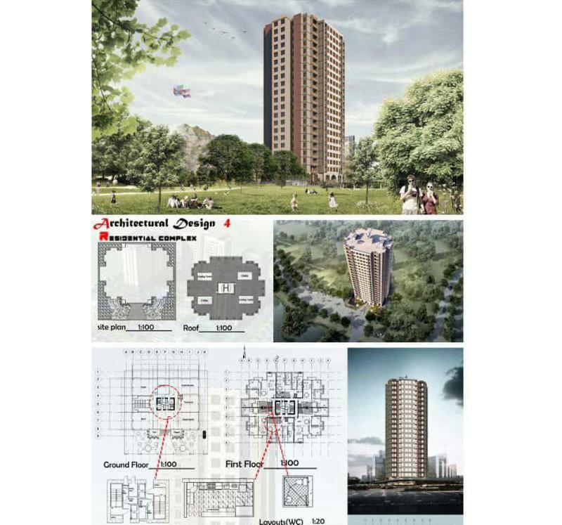 پلان و مدل مجتمع مسکونی