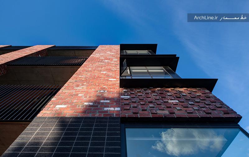 نمای مدرن آپارتمان