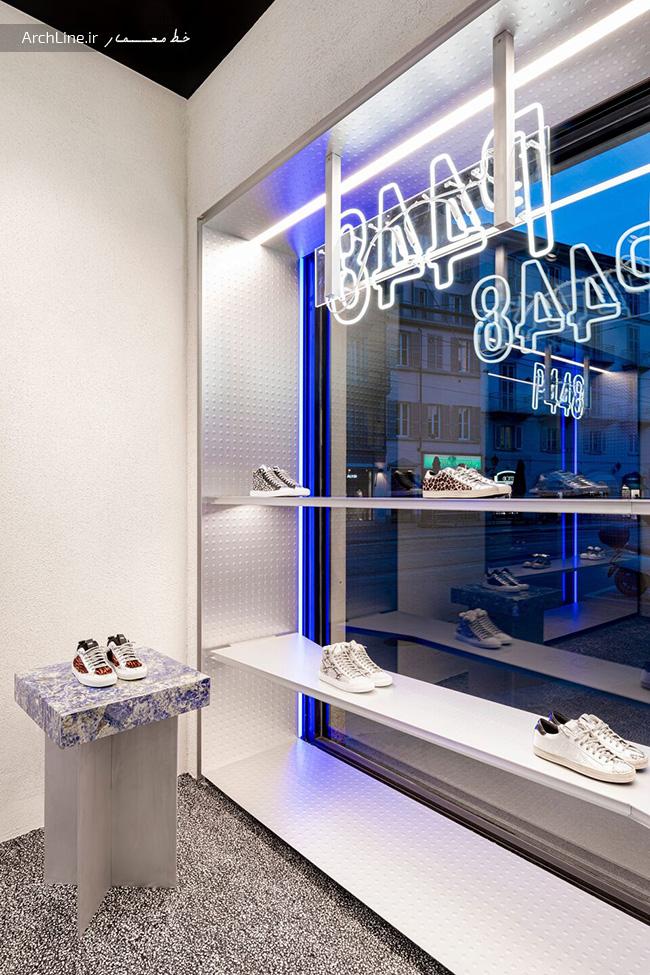 طراحی قفسه کفش فروشی