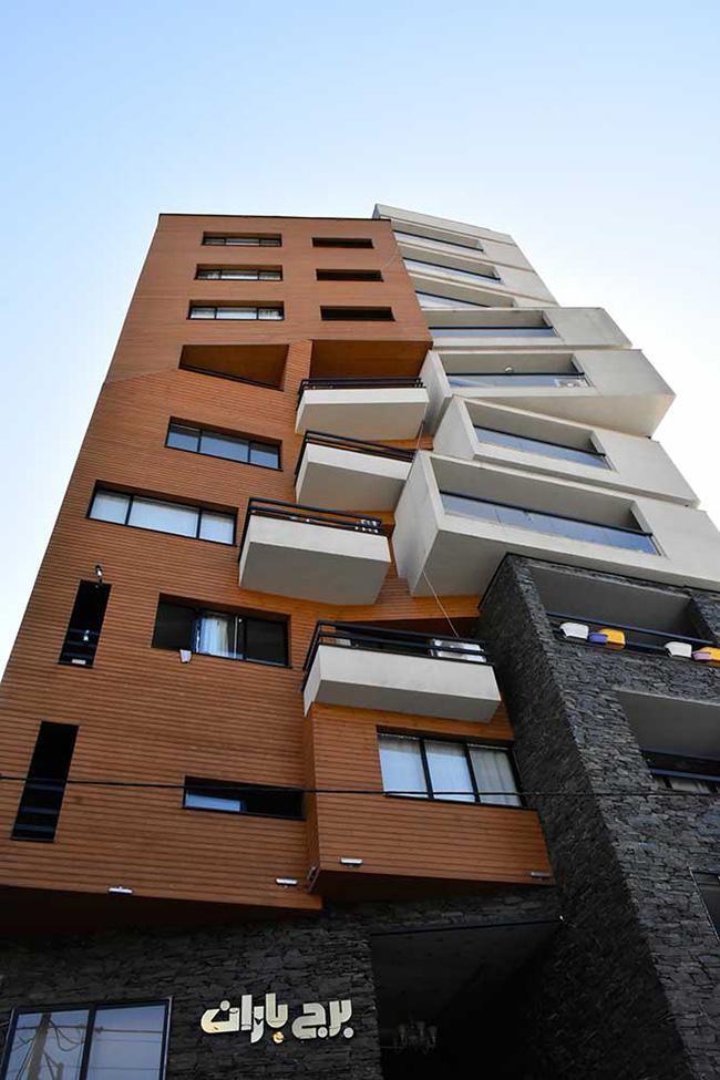 طراحی معماری برج باران