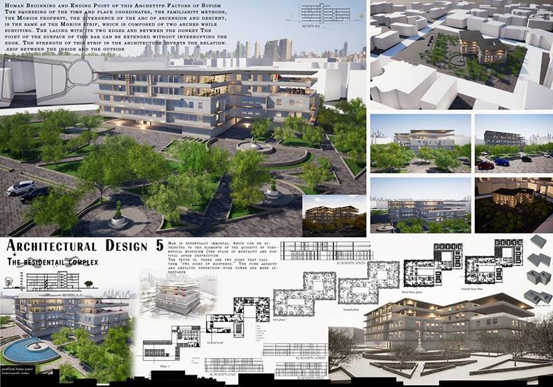 نمونه پلان مجتمع مسکونی