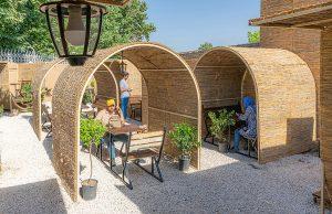 طراحی کافه باغ بیشه چناران