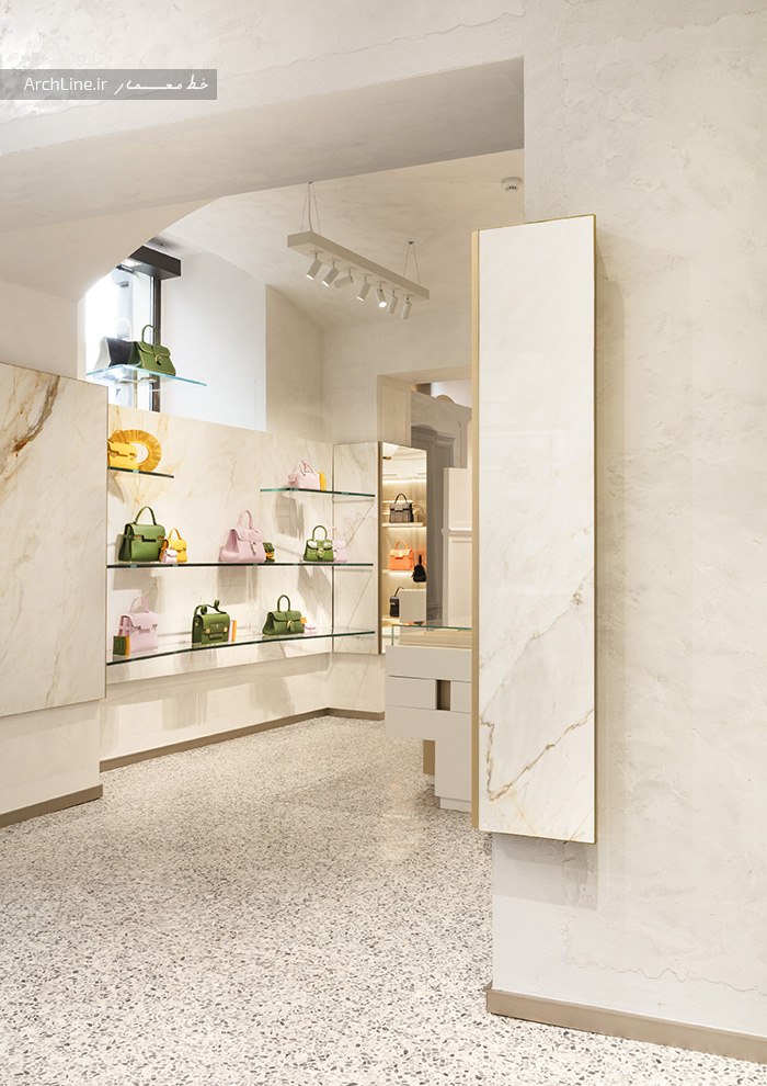 طراحی دکوراسیون مغازه کیف زنانه