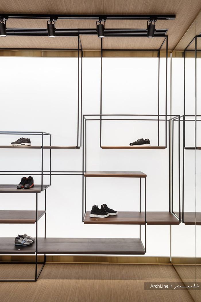 دکور و قفسه مغازه کفش فروشی