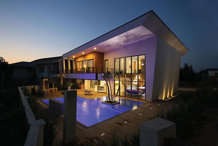معماری خانه های سروستان