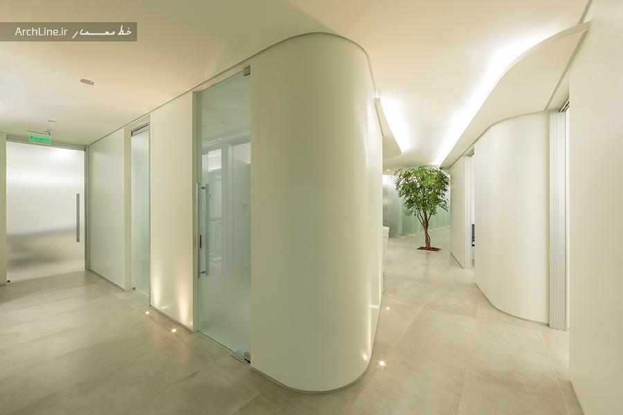 طراحی داخلی کلینیک پوست و لیزر