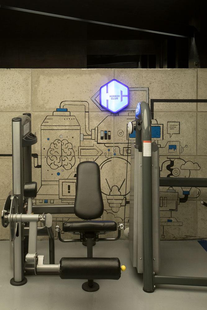 طراحی داخلی باشگاه بدنسازی راک