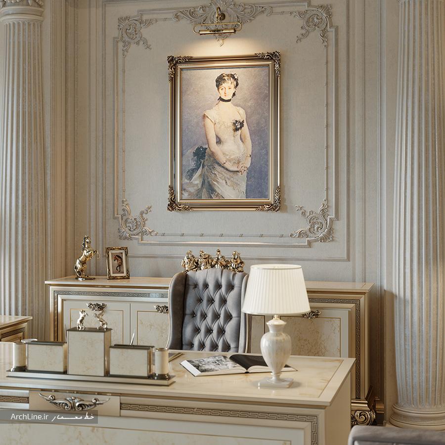 طراحی داخلی اداری کلاسیک