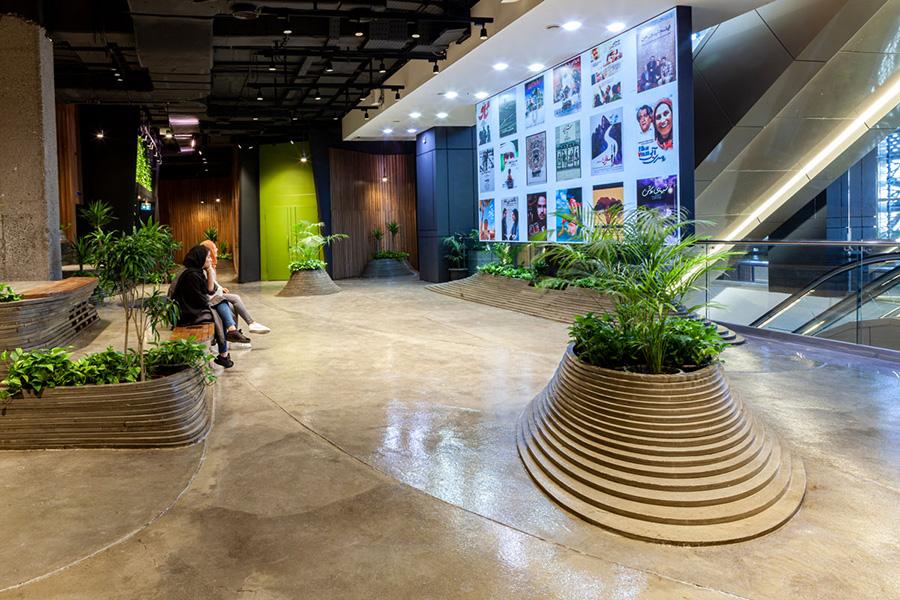 طراحی داخلی مجموعه فرهنگی