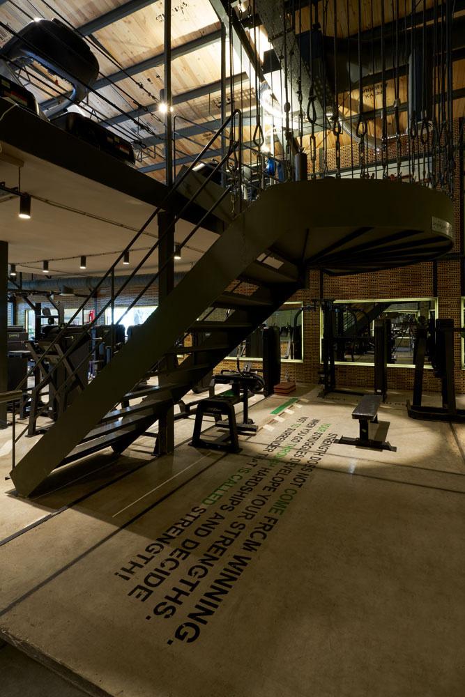 طراحی داخلی باشگاه تناسب اندام
