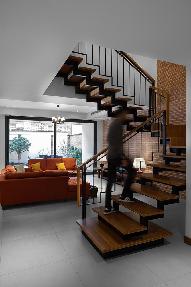 نمای آپارتمان آجری مدرن