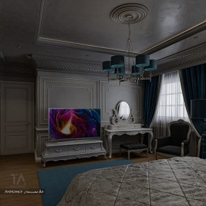 اتاق خواب کلاسیک و سلطنتی