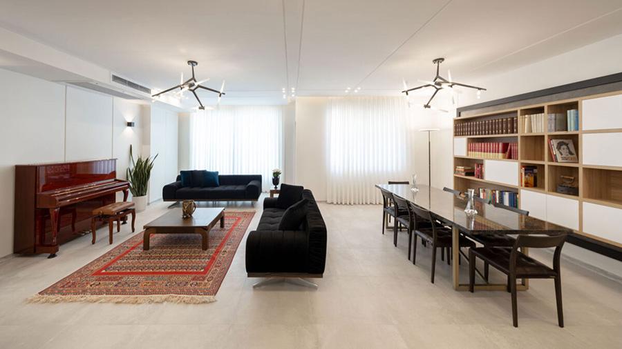 طراحی داخلی آپارتمان یاسمین
