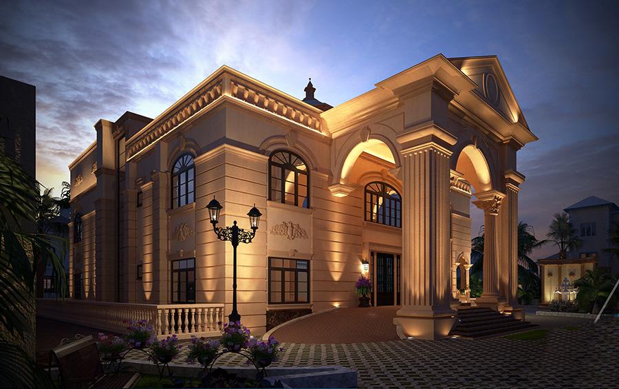 طراحی ویلا کلاسیک لوکس