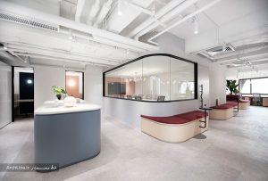 طراحی داخلی دفتر اداری مدرن