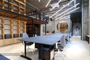 طراحی دفتر کار شیک و مدرن