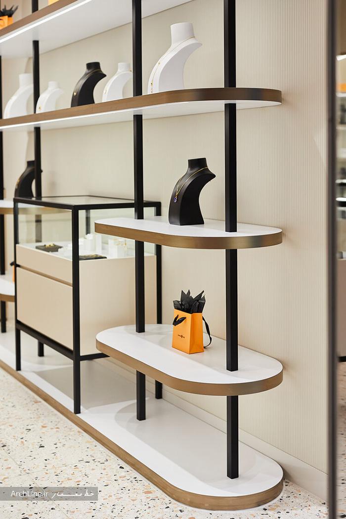 دکوراسیون داخلی طلا فروشی مدرن