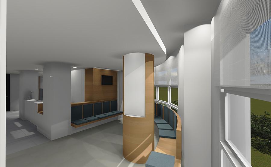 طراحی دکوراسیون داخلی کلینیک چشم پزشکی