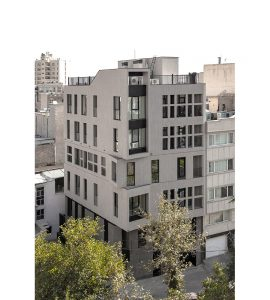 معماری آپارتمان مسکونی کنج