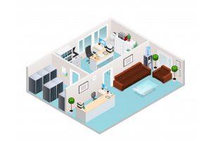 نمونه طراحی داخلی دفترکار