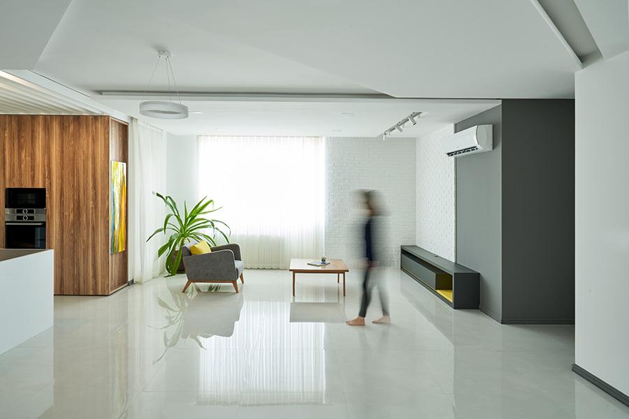 طراحی داخلی آپارتمان کنج