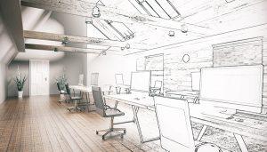 انواع طراحی داخلی دفترکار
