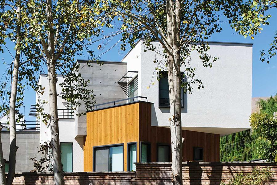 معماری ویلای باغ گل
