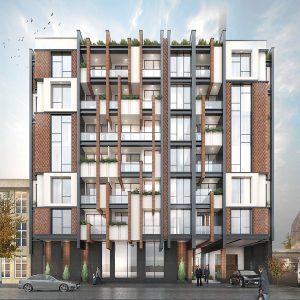 معماری ساختمان مسکونی عظیمیه کرج